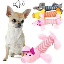 Squeak mastigar brinquedos do cão bonecas som cão gato velo animal de estimação brinquedos de pelúcia engraçado elefante pato porco apto para todos os animais de estimação durabilidade