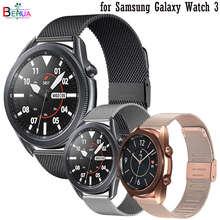 Bracelet de montre en acier milanais 22mm 20mm pour Samsung Galaxy Watch 3 45mm 41mm pour Amazfit GTR 42mm 47mm