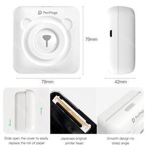 Image 2 - Портативный термальный Bluetooth принтер 58 мм мини беспроводной POS фото принтер Android iOS мобильный телефон печать Peripage A6