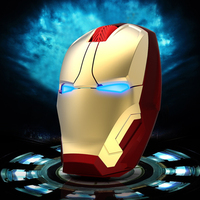 Wireless Silent Computer Mouse Iron Man USB Optical Mause 3D Marvel Cartoon Ergonomic Noiseless PC Office Mice For Kid Boy Gift|Mice| |  -