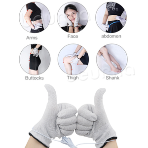 Image 3 - 1 Set Dual Channel 8 Tens Unit Electronic Therapy Body Neck Massager Pulse Meridian Machine Muscle Stimulator Glove Sock Bracer