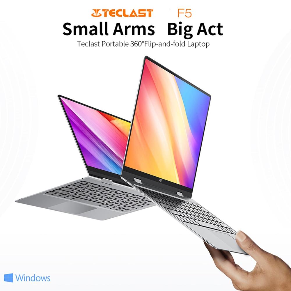 "Teclast F5 laptop 11.6"" Notebook Windows10 8GB RAM 256GB SSD Intel Celeron N4100 360° Rotating 1920*1080 IPS Touch Screen Type-C"