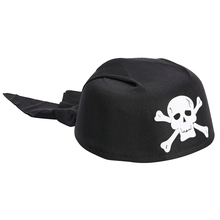 Cycling Round Pirate Skull Hat Cotton Pumpkin Top Headscarf Summer Cap Unisex Running Riding Black Hood Headhand Halloween Caps saf 2016 new unisex dressing up white skull pattern pirate bucket hat cap