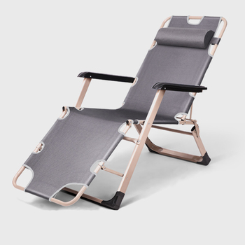 Folding Recliner Siesta Bed Back Chair Lazy Sofa Beach Home Leisure Portable Balcony Lounge Chair  Chaise Lounge