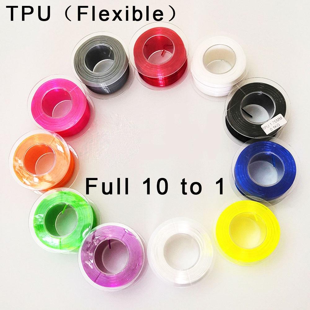 TPU Filament Flexible Soft 3D Printing Material Tpu Filament 1.75mm  Flex  EP Material 3D Printer Plastic Line Rubber Filament