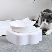 Cat Dog Bowl Raised Food Water Bowl with Detachable Elevated Stand Pet Feeder Bowl No-Spill Adjustable Tilted Pet Bowl