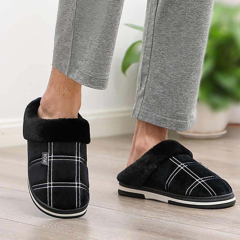 Male slipper Plush Cozy House slippers