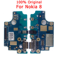 Original USB Charging Board For Nokia 8 Charging Port Charge Flex Cable PCB Dock Connector Spare parts Mobile Phone Flex Cables     -