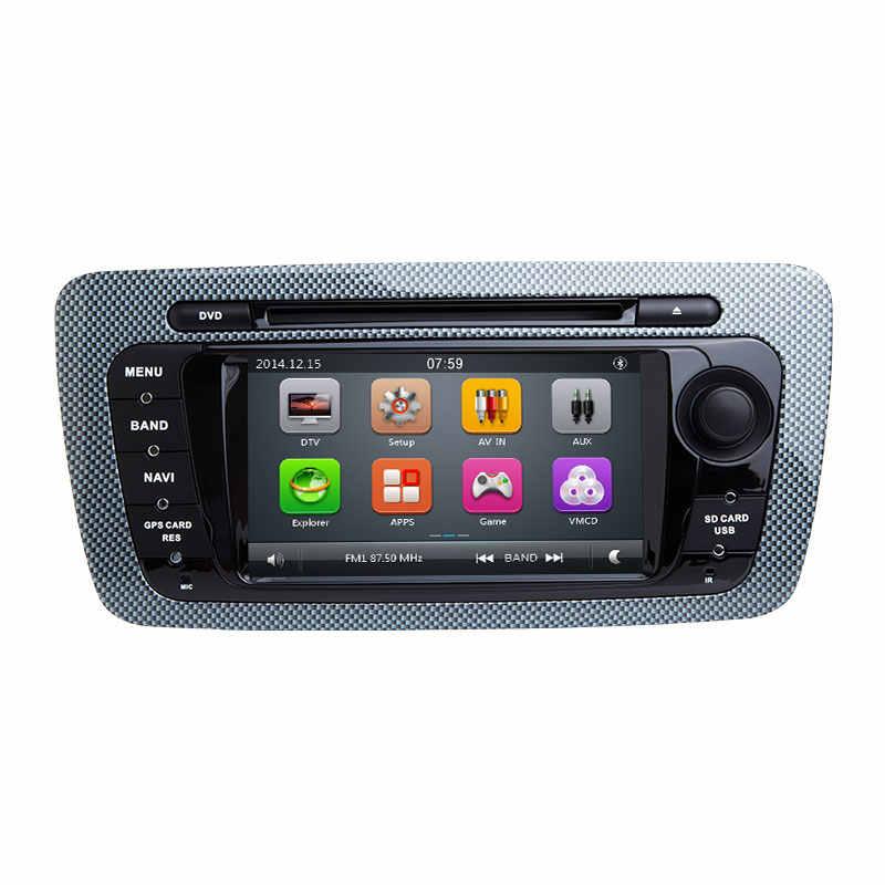 Radio samochodowe 2 Din samochodowy odtwarzacz dvd Multimedia dla seat ibiza 6J MK4 SportCoupe Ecomotive Cupra 2009 2010 2011 2012 2013GPS Navigationstereo