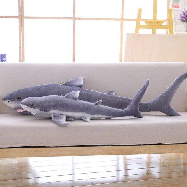 محاكاة القرش ألعاب من نسيج مخملي الشريط وسادة نوم القرش الأبيض الكبير الأطفال صعبة ألعاب إبداعية هدية عيد ميلاد للأطفال الأصدقاء