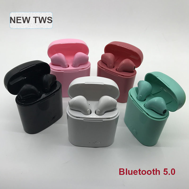 i7s <font><b>TWS</b></font> <font><b>Bluetooth</b></font> <font><b>5.0</b></font> Wireless Earphones pk i14 <font><b>tws</b></font> Earpieces mini <font><b>Earbuds</b></font> With Mic For iPhone X 7 8 Samsung S6 S8 Xiaomi Huawei image
