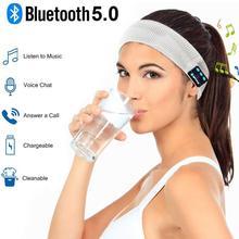 Беспроводные наушники с Bluetooth, спортивные наушники, гарнитура для йоги, наушники Hands-Free, мягкая теплая шапка, умная Кепка с микрофоном для бег...