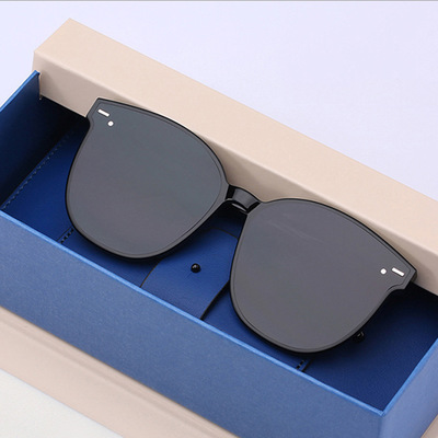 New Acetate Round Sunglasses Star Style Retro Men Gentle Brand Designer Sun Glasses For Women Vintage Mirrored UV400 Multicolor