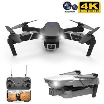 2020 nowy E88 Pro Rc Drone z szerokokątnym HD 4K 1080P Wifi Fpv podwójny aparat wysokość trzymaj składany Quadcopter Mini Drone zabawki prezentowe tanie i dobre opinie 2-osiowy Gimbal Z tworzywa sztucznego 3*AA(not include) CN (pochodzenie) Wewnątrz i na zewnątrz 1080p FHD 4K UHD About 100 meters