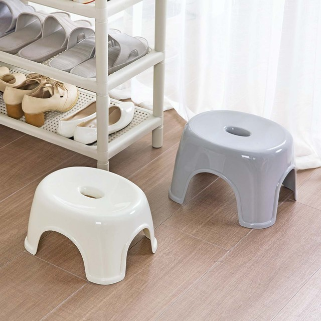 Japanese Style Thicken Plastic Stool Living Room Change Shoes Bench Mini Stool Portable Home Outdoor Kids Seat Small Chair 3