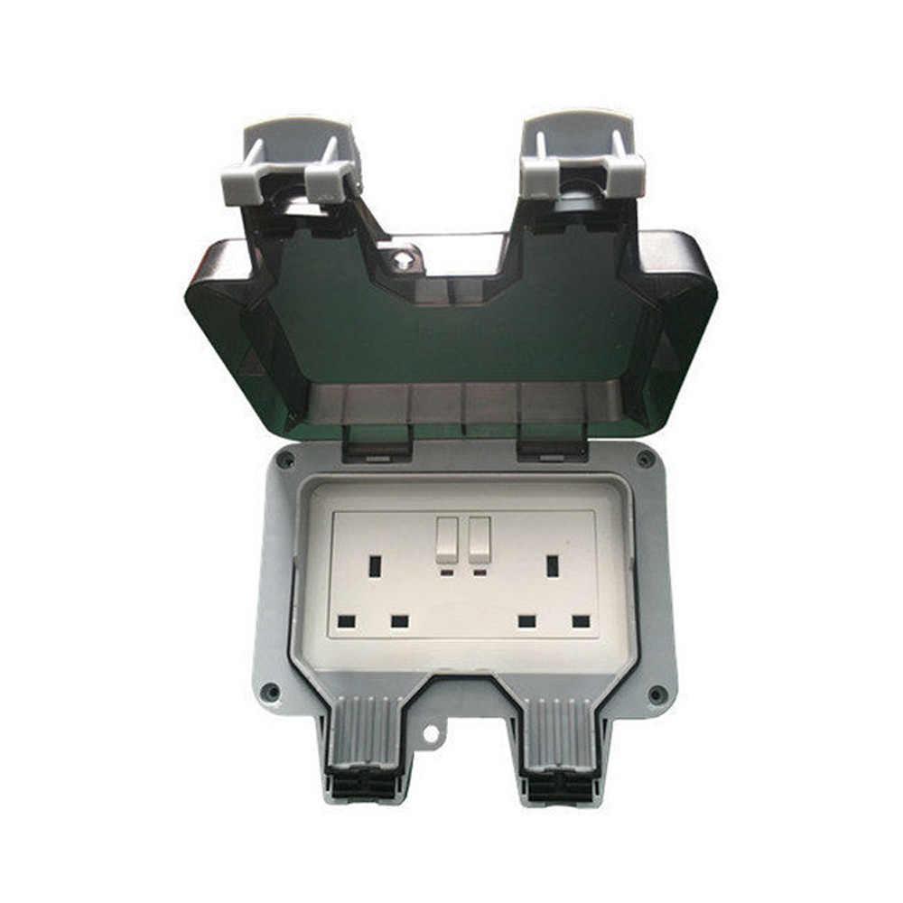IP66 עמיד למים שקע 13A יחיד או כפול חיצוני אמבטיה פתוח שקע