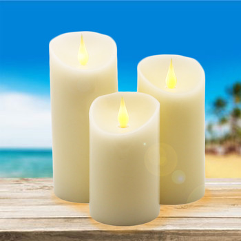 Dancing Flame LED Candles Lights Jumping Flame with Real Wax Pillar, for wedding/Christmas/decoration and lovely night light цена 2017