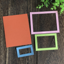 Stitched Rectangle Frame Metal Dies Cutting Scrapbooking Craft Die Cut For Card  Embossing Stamp Decoration