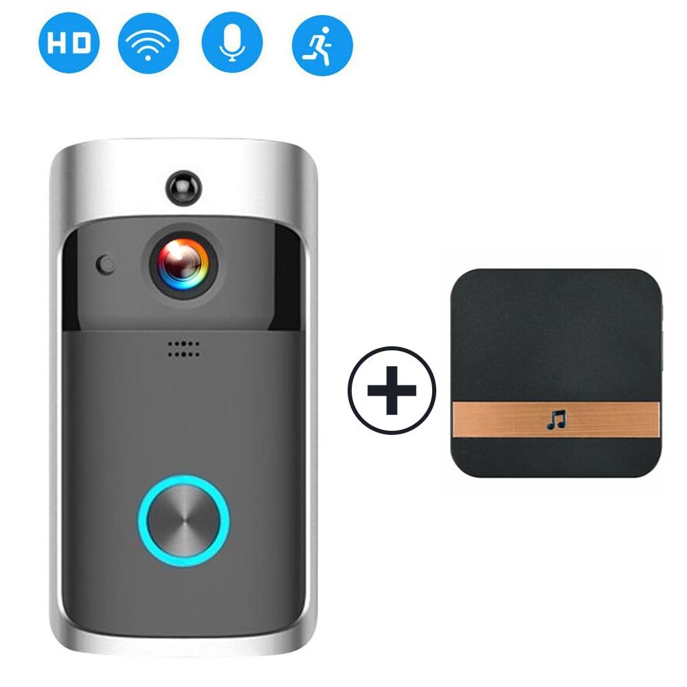 Умный wifi дверной Звонок камера IP видео домофон видео дверной звонок для квартиры ИК сигнализация беспроводная камера безопасности - Цвет: with Plug