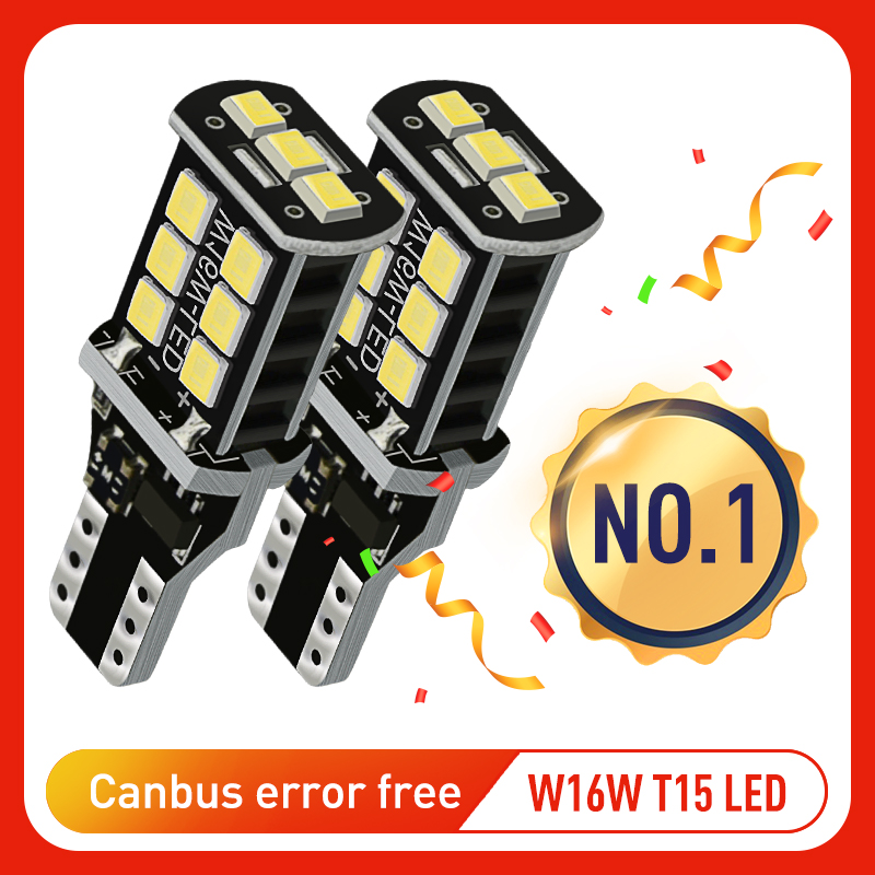 2x W16W <font><b>T15</b></font> <font><b>LED</b></font> Bulbs 2835 SMD Canbus OBC Error Free <font><b>LED</b></font> Backup Light 921 912 W16W <font><b>LED</b></font> Bulbs <font><b>Car</b></font> Reverse <font><b>Lamp</b></font> Xenon White DC12V image