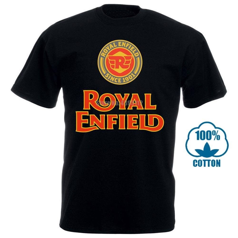 Limited Edition Royal Enfield Logo Men Black T Shirt Size S 3Xl