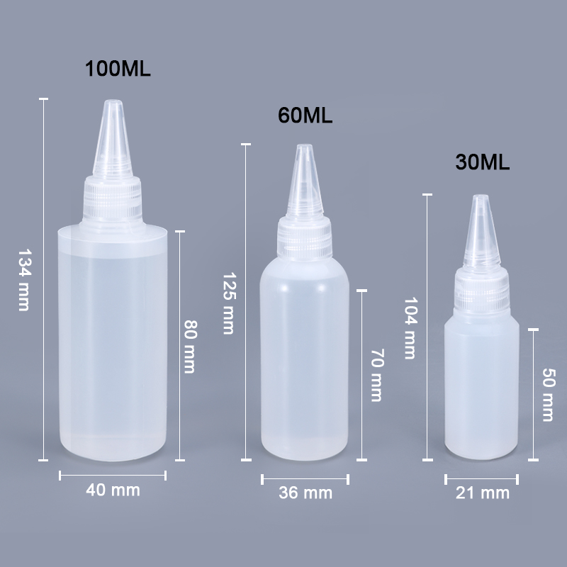 10PCS Plastic Small Squeeze Bottles and Caps Food Grade container for Icing Cookie Decorating/Condiments/Arts and Crafts