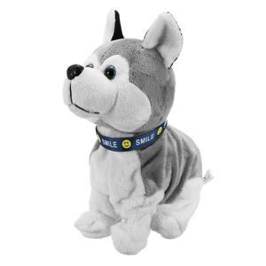 Image 3 - Электронная Интерактивная игрушка со звуковым управлением для собак, робот, щенок, лай, подставка, 8 ходов, плюшевые игрушки для детей, подарки