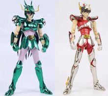 В наличии большие игрушки GT EXST EX Bronze Pegasus seiya Dragon Draco shiryu v1, защитный шлем, металлическая броня, модель фигурки