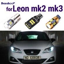 Branco puro conduziu a lâmpada reversa + posição de estacionamento + dia drl luz de circulação diurna para seat leon mk2 mk3 1p 1p1 5f lâmpada exterior