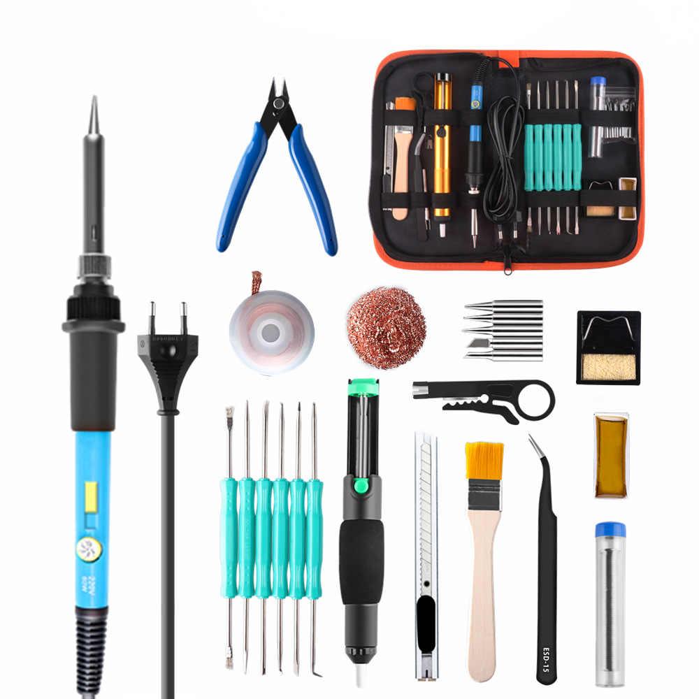 PJLSW 60W température réglable ensemble de fer à souder électrique soudage Station de soudure trousse à outils de réparation de crayon de chaleur