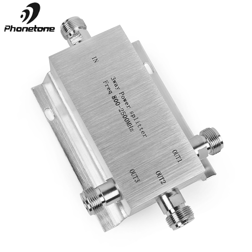 3 Way Power Splitter 380-2500mhz Low Loss Microstrip Power Divider For GSM 3G 4G Cell Phone Signal Booster Repeater 1-3 Splitter