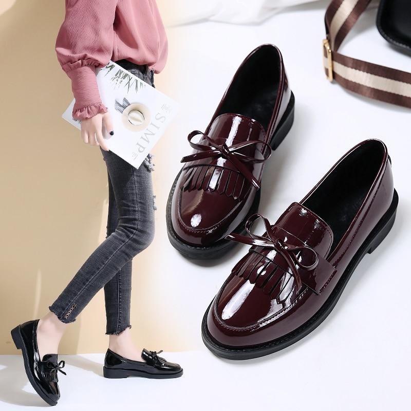 Women Ladies Loafer Flats Platform Shoes