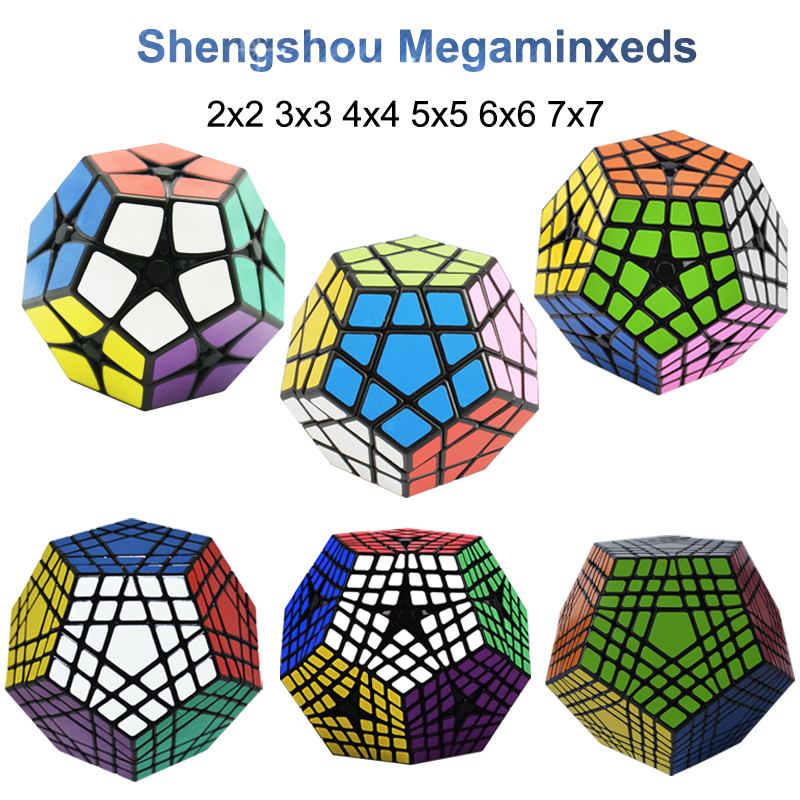 Shengshou Megaminxeds 2x2 3x3 4x4 5x5 6x6 7x7 Magic-Cube Speed Puzzle Cubes Stickerless Cubo Magico Toys Professional 12 Sides C