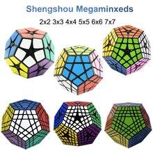 Shengshou Megaminxeds 2×2 3×3 4×4 5×5 6×6 7×7 cubos mágicos de velocidad de Cubo mágico cubos sin pegatina Cubo mágico juguetes profesionales 12 lados c