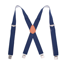 Easy Install Adjustable Suspenders Elastic Band X-Back With 4 Metal Clips Pants Strap Belt Polyester Yarn Accessories Flexible