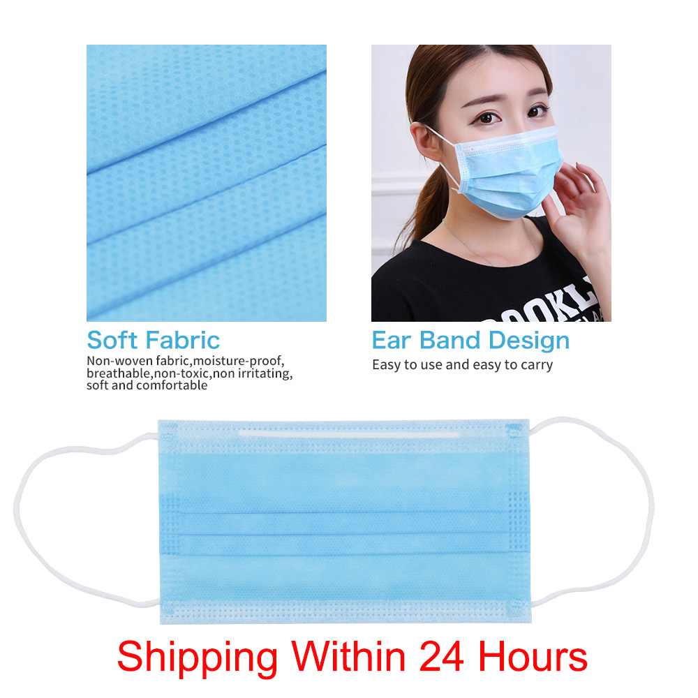 5/10Pcs 50Pcs Disposable Mask 3 Layer Protection Anti-Bacteria Nonwove Ply Filter Mouth Masker Face Mask Dust Dustproof Anti-fog