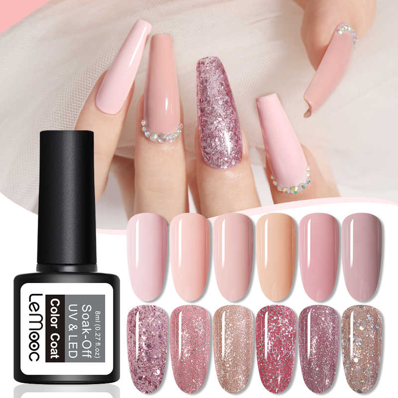 8Ml Nail Art Shining Glitter Pailletten Platina Verf Gel Crystal Nail Art Losweken Platinum Rose Gold Uv Gel nagellak