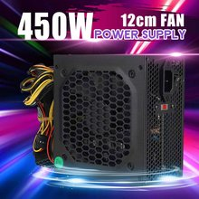 450W PC Computer Power Supply Computer PC CPU Power Supply 20+4-pin 12cm Fans ATX 12V Molex PCIE w/ SATA PCI Connect Computer(China)