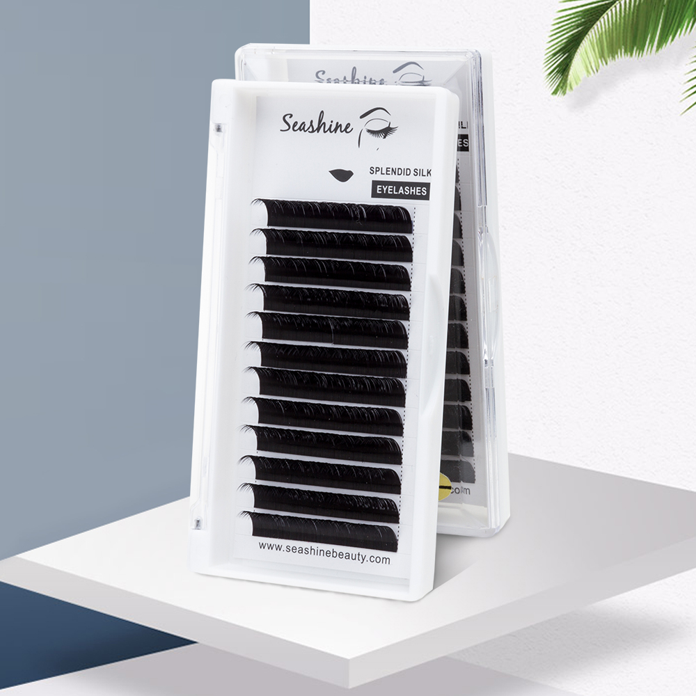 Seashine CLASSIC Lash L Curl 12Rows/Case 8-14mm Mix  Volume Lash Mink Natural Mink Individual Lashes Eyelash Extension