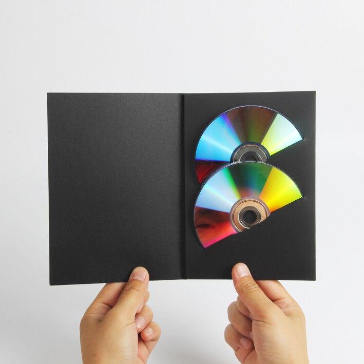 50 минимум Черный CD коробка бронзирующий на заказ альбом CD альбом наружная упаковка свадебная фотография DVD рекламная коробка CD бумажный