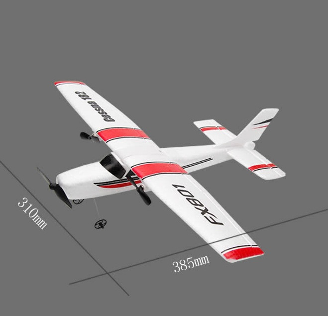 DIY RC Plane Toy EPP Craft Foam Electric Outdoor Remote Control Glider FX-801 Remote Control Airplane DIY Fixed Wing Aircraft(China)