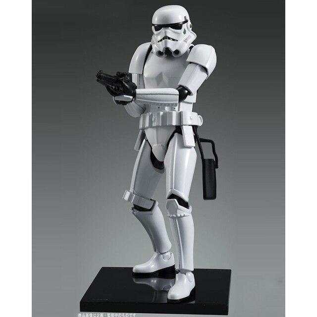 Figuras de acción originales Bandai Star wars 1/12 de Stormtrooper imperial Bai Bing, figuras Brinquedos