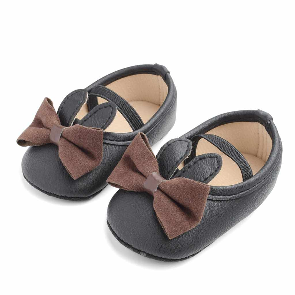 Toddler Kids Shoes Baby Girls Boys Cute Bow First Walk Elastic Band Casual Shoes Casual princess baby shoes Chaussures pour 2019
