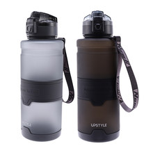 UPSTYLE 1500Ml Portable Leakproof Anti-Fall Sport Water Bottle Gym Fitness Drinking Bottles Shaker Waterbottle(China)