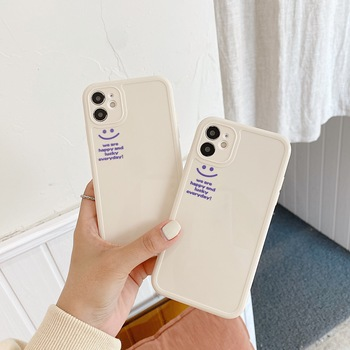Lucky happuy Smiley etui na telefon dla iphone 11 Pro Max etui nowe INS Korea silikonowe miękkie dla iphone XR X XS MAX XR okładka funda capa tanie i dobre opinie APPLE CN (pochodzenie) phone case for iphone 11 case soft for iphone 7 8 plus case Luxury phone case for iphone XR case