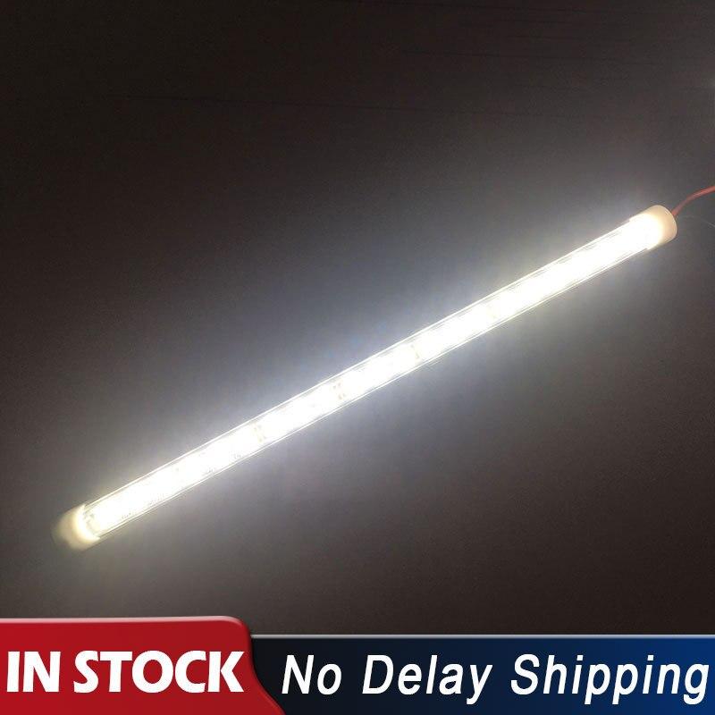 24 v 6000k 24 conduziu luzes de conversão do veículo do caminhão iluminação do táxi barra clara trabalho branco grandes luzes interiores