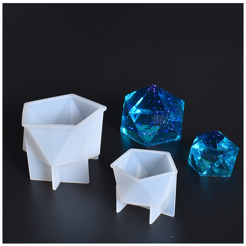 Pentagonal Pyramid Silicone Mold 3D Geometry Mould Epoxy Resin Art Supplies Soft Clear Mold For UV Resin Silicone Mold For Resin