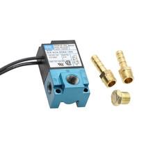 Válvula solenóide eletrônica dc12v 35a aca ddba 1ba do controle do impulso do porto do mac 3 com silenciador de bronze dos encaixes de tubo de 6mm