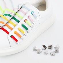1 пара эластичные шнурки для ботинок на плоской подошве Пресс