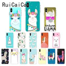 Ruicaica Lama Llama Alpacas Animal Cartoon Coque Shell Phone Case Cover for iPhone 8 7 6 6S Plus X XS MAX 5 5S SE XR 10(China)